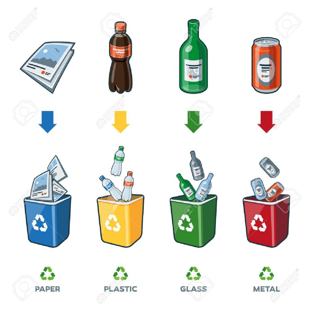 32996338-four-recycling-bins-illustration-with-paper-plastic-glass-and-metal-separation-